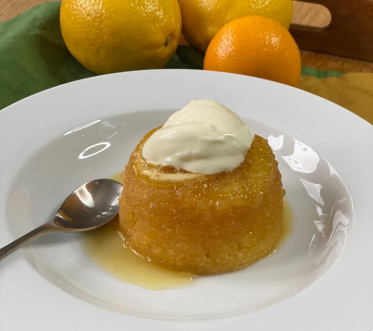 Steamed Lemon Sponge Pudding